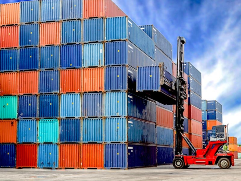 Where to store a shipping container
