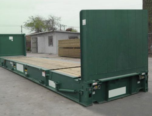 Buy or rent a flat rack container for those heavy loads